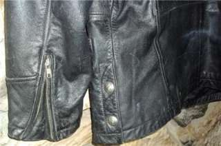 Harley Davidson Full Force Leather Jacket 3/4 Length Coat 98208 96VM