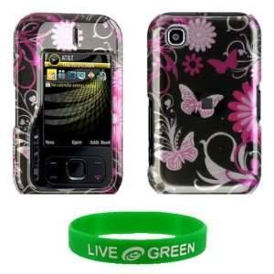 Pink Butterfly Design Snap On Hard Case for Nokia Surge
