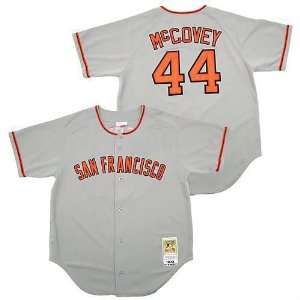 baseball jerseys san francisco giants 44 willie mccovey grey by m&n