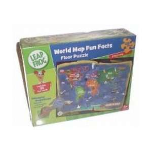 world map fun facts 48pc Toys & Games