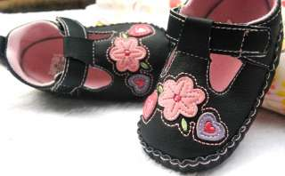 Black mary Jane kids baby girl shoes size 2 3