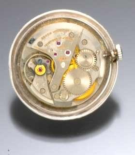 Gents Dress Watch   Gruen 14K White Gold Diamond Bezel Wrist Watch