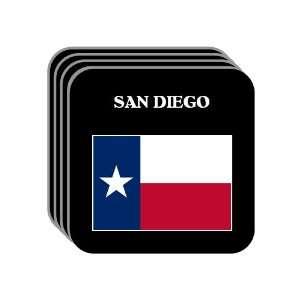 US State Flag   SAN DIEGO, Texas (TX) Set of 4 Mini Mousepad Coasters
