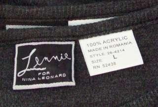 Lennie Nina Leonard Long Gray Knit Dress with Cardigan Jacket Large
