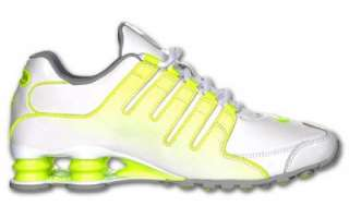 NIKE SHOX NZ SL WHITE /WOLF GREY/VOLT MENS BRAND NEW IN BOX SELECT