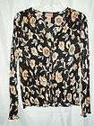 Ladies Medium Multicolored Luxe 3 4 Sleeve Patterned Blouse