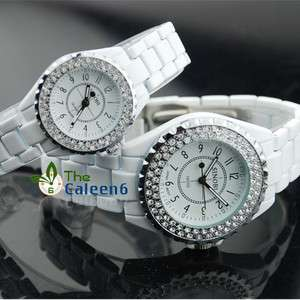 NEW SINOBI Fashion S/Steel 3A Crystal Women Ladies Wrist Men Watch 2