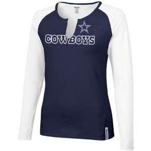 Reebok Dallas Cowboys Ladies Navy Blue White High Pitch