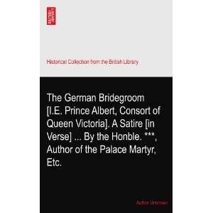 The German Bridegroom [I.E. Prince Albert, Consort of