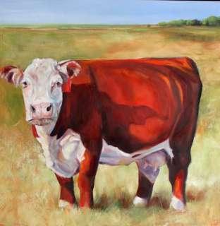 Cattle Cows Original Art Oil Acrylic Farm Paintings Toni Grote