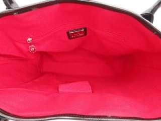 BN Lulu Guinness Black Leather Canvas Large London Tote /Shoulder Bag