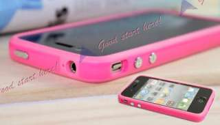 PINK for Apple Iphone 4G 4 Bumper Cover TPU Skin Case Cover w/Side
