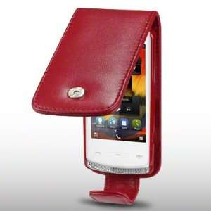 NOKIA 700 SOFT PU LEATHER FLIP CASE BY CELLAPOD CASES RED