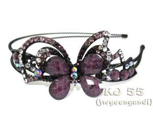 Headbands Flower Butterfly Hair Bands Crystal Head Beads Color H216