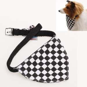 Checks Pet Dog Bandana Collar Scarf Neckerchief   S