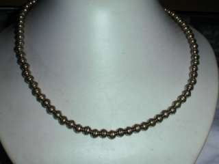 LOVELY HAND FORGED STERLING BEAD NECKLACE  NATIVE AMERICAN