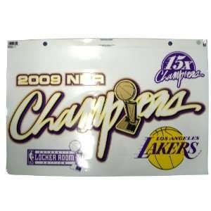 Los Angeles Lakers 09 NBA Championship Jumbo Static Window
