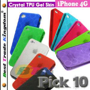 10x Soft TPU Silicone Gel Skin Hard Case iPhone 4 4G