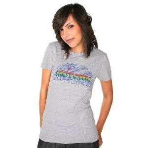 Motown Juniors Map Logo T Tee Shirt Heather Grey NWT