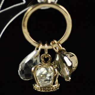 Beautiful Charm 18K Gold Plated Noble Imperial Crown Swarovski Crystal