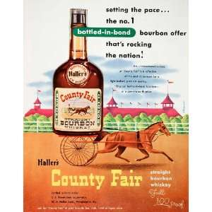 1950 Ad Hallers County Fair Bourbon Whiskey Alexander