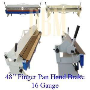 48 Finger Pan Hand Brake Bender 16 Gauge Home