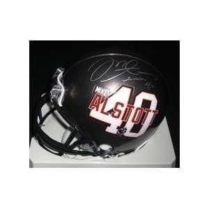 Mike Alstott Autographed Tampa Bay Bucs PLAYER Mini Helmet