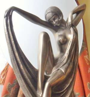 VINTAGE RETRO ART DECO SOFIA LADY FLAPPER BRONZE FIGURE STATUE