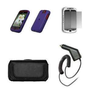 HTC myTouch 3G Slide Premium Black Leather Carrying Case