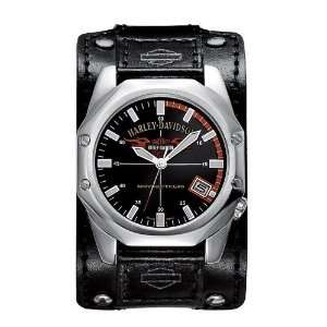 com Harley Davidson Mens Leather Strap Watch 76B146 Harley Davidson