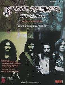 Black Sabbath   Riff by Riff Bass Guitar Tab Song Book