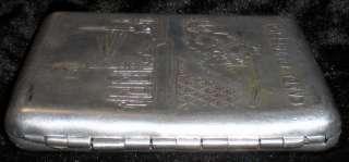 Cigarette Case Holder Metal USSR Aurora Revolution 1917 Tobacco