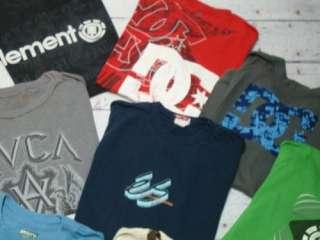 QUIKSILVER HURLEY VOLCOM DC Mens Surf Skate T Tee Shirt Lot Sz Medium