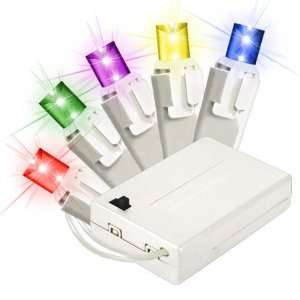 Multi Color   Battery Operated   15 LED Bulbs   Wide Angle