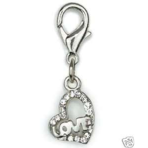 Aria Hearts of Love Dog Cat Pet Collar Charm CRYSTAL