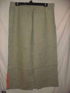 Harve Benard light green long linen skirt 16