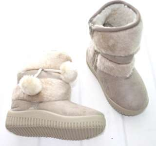 Beige Kids Boys Girls Snow Boots Winter Shoes 2 6 yrs S060BE
