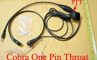 Coil Tube 1 pin Throat mic for Cobra Radio CBTR