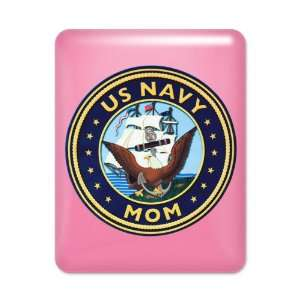 iPad Case Hot Pink US Navy Mom Bald Eagle Anchor and Ship