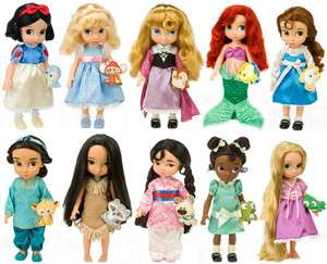10 NEW DISNEY PRINCESS TODDLER DOLL TIANA ARIEL JASMINE MULAN AURORA