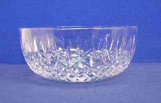 Crystal Glass LISMORE Large Round Bowl 8 Vegetable Salad Serving Bowl