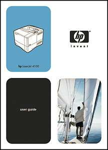 HP LaserJet 4100 Printer 278 page User Operation Manual Guide *PAPER