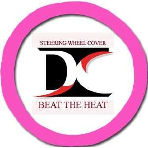 Hot pink steering wheel cover. Beat the heat Automotive