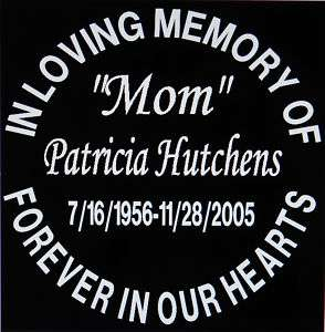 12 Memorial in loving memory of window decal