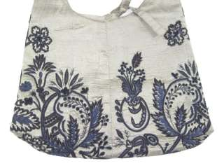 MEGAN PARK Bronze Silk Embroidered Small Handbag