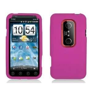 HTC EVO 3D   Hot Pink Silicone Rubber Gel Soft Skin Case