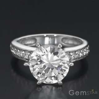 CT ROUND DIAMOND SOLITAIRE RING 14K WHITE GOLD