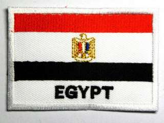 EGYPT NATION MUMMY FLAG IRON ON PATCH EMBROIDERED I024
