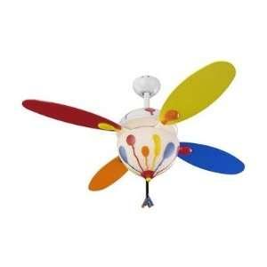 Monte Carlo Fan Company 4BN44WHD L 44 Balloon Childrens Ceiling Fan