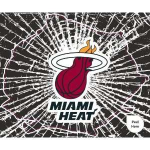 Miami Heat Shattered Auto Decal (12 x 10  inch)